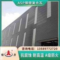 厂家供应钢塑复合瓦 河南漯河覆膜耐腐板 工程建筑屋面彩瓦